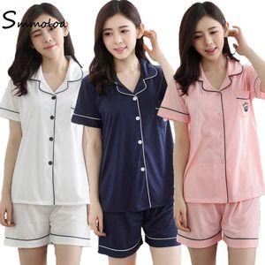 Smmoloa-Baumwoll-Pyjama-Kurzarm-Pyjamas