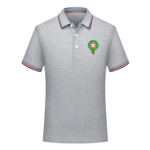 nuova camicia di polo di polo di calcio bavero manica corta casuale della camicia di calcio POLO 2020 Marocco degli uomini della camicia di polo nazionale di formazione del team Maglia Uomo