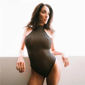 Dot Щитовые женщин конструктора Комбинезоны Sexy выдалбливают Короткие Rompers Мода без рукавов естественный цвет комбинезонов Полька
