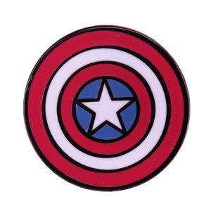 Captain America brooch Marvel comic superhero fans great decor