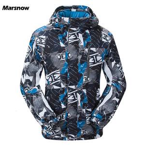 Marsnow 남자 스키 재킷 겨울 야외 열 방수 방풍 스노우 보드 재킷 등반 남성 눈 스키 스포츠 의류 T190920