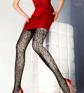 Bastão de vampiro Vestuário Meias Womens Designer Teia de aranha calças justas Sexy Preto Donna Fishnet Meias Night Club