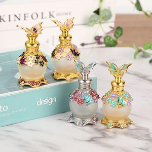 Echootime 15ml Vintage metal garrafa de perfume estilo árabe Óleos Essenciais conta-gotas frasco Oriente Médio Weeding Decoração presente o navio livre