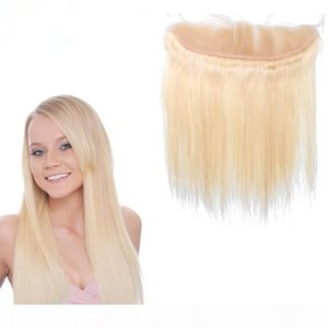 L Grade 9a Brazilian 613 Blonde Lace Frontal Closure 13x4 With Baby Hair 8 -24 &Quot ;Silk Straight Full Lace Frontals 3 Parting Bleach