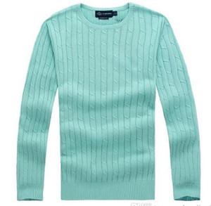 Moda-2018 nova alta qualidade milha wile polo marca dos homens torção camisola de malha camisola de algodão jumper pulôver pequeno jogo de cavalo