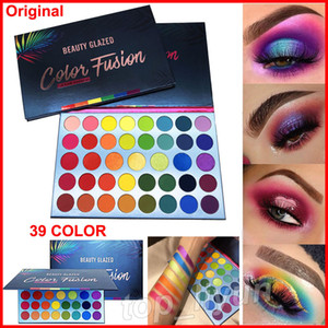 Beauty Glazed 39 Colours Eyeshadow Palette Makeup Colour Eye Fusion Fusion Glitter Shiny Ombretto High Pigmented Shimmer Matte Highlighter Powder