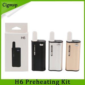 Kit d'origine Hibron H6 avec Vape Box Mods 350mAh préchauffer la batterie vaporisateur cartouches de verre en céramique atomiseur 0268086