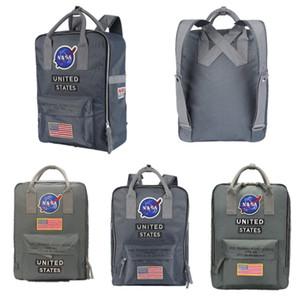 NASA Backpack 19ss National US Flag Brand Designer Men Women Rucksack Travel Multifunction Laptop Bag Student Schoolbag Shoulderbag Handbag