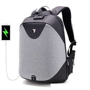 ARCTIC HUNTER Anti-Diebstahl-Reißverschluss Passwortsperre Rucksäcke Wasserdichte Tasche Männer Geschäftsreisen 15,6-Zoll-Laptop-Rucksack weiblich