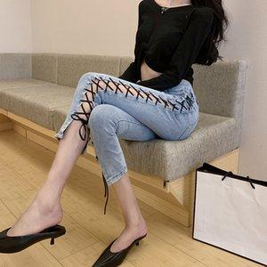 Jeans minces femmes taille haute 2020 Été Populaire Nouveau Tight Mode Pantalons Skinny Pantacourt Mode