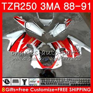 Cuerpo para YAMAHA TZR250 3MA TZR 250 RS RR YPVS rojo stock caliente TZR250RR 118HM.85 TZR-250 88 89 90 91 TZR250 1988 1989 1990 1991 1991 Kit de carenados