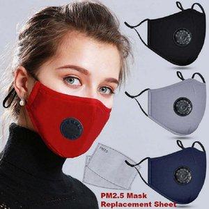 maschera Designer con valvola 10pcs PM2.5 filtro anti-polvere di fumo all'aperto regolabile Maschera interna Protezione Bocca riutilizzabili per le donne Man