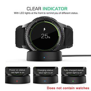 cargador inalámbrico de servicio Galaxy 46 / 42mm reloj elegante reloj de carga del muelle Galaxy S3 para Samsung Gear S2 Deporte de energía Cargar Fuente