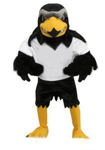 NuevoDeluxe Traje de la mascota del halcón de felpa Tamaño adulto Eagle Mascotte Mascota Fiesta de carnaval Cosply Costume Fancy Dress Suit Fit