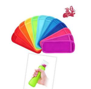 Yeniden kullanılabilir Popsicle Çanta Sahipleri Dondurucu Kapak Buz Kollu donma buzlu şeker Kol Buz Kapak Çocuk Anti-soğuk buz Kapak LJJK2019 Sticks