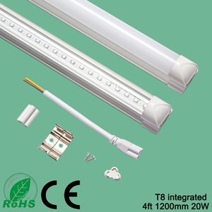T8 Integrated Led Tube Light 4ft 1200mm 20w Led Fluorescent Lamp High Lumen AC85-265V With CE and Rohs Approved