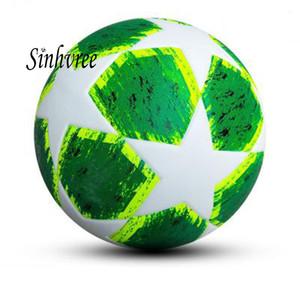무료 배송 새로운 DesignPU 미끄럼 방지 표준 크기 5 축구 공 축구 공 로고와 함께