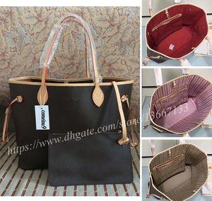 Shopping bag donna con pochette in vera pelle 2019 Borsa a tracolla in vera pelle da donna di alta qualità 40995 Buon prezzo