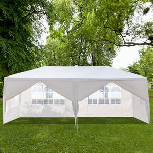 10x20ft في الهواء الطلق الفناء خيمة الزفاف 6 نافذة جدران سستة باب مظلة حزب الثقيلة 3x6m شرفة ماء جناح بافيليون