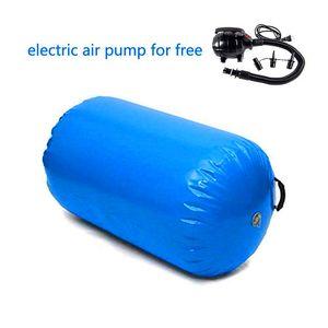 شحن مجاني 60 سنتيمتر ديا طويل 105 سنتيمتر نفخ الهواء الرول الجمباز الهواء برميل لممارسة التدريب مع مضخة كهربائية