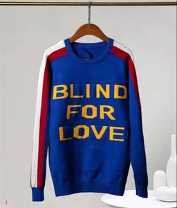 Мужская дизайнер толстовка свитер МОДА СТИЛЬ кофты теплые толстые буквы печати Марка свитер шерсть внутри роскошный боковой полосатый свитер #1y