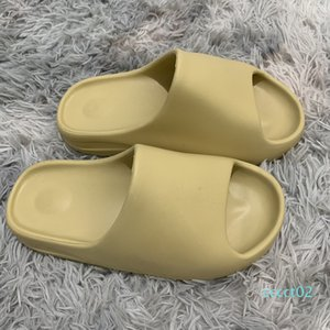 Hot kanye slide men women designer slippers Bone Desert Sand Resin triple black fashion slides mens beach hotel sandals Gear bottoms ct2