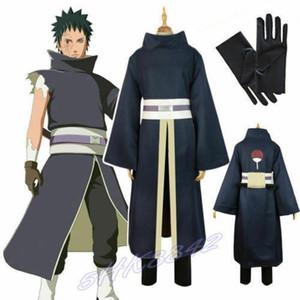SICAK Akatsuki Ninja Tobi Obito Madara Uchiha Suit Cloak Üniforma Cosplay Kostüm