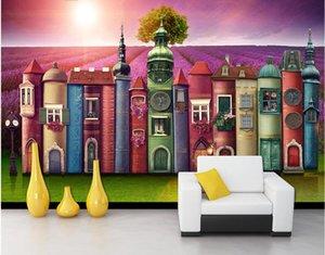 carta da parati 3d sulla foto muro personalizzato Creative Book Casa Background Lavender Manor Home improvement soggiorno wallpaper per pareti 3 d