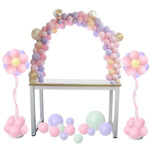 38 adet Ayarlanabilir Masa Balon Kemer Kitleri Diy Doğum Günü Düğün Dekorasyon Balonlar Standı Çerçeve Paskalya Parti Dekor Kaynağı Q190524
