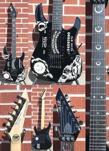 KH-2 OUIJA BLACK Edition Limitée Kirk Hammett Signature guitare électrique Une pièce Body Chine Signature Made Guitars
