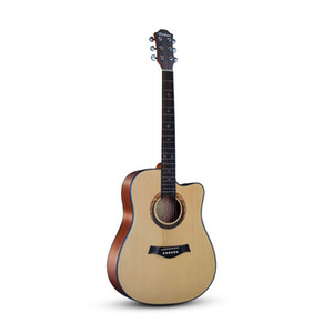 40 '' Guitarra Acústica Cantoway Guitarra Acústica de Cantoway Top Strap Corda de Madeira Maciça Mão Exercitador Wound Guitarra