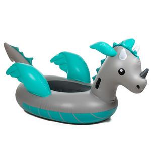 Piscina gonfiabile gigante di dinosauro da 220 cm Galleggiante Anello da nuoto con unicorno da cavalcabile più recente per adulti Giocattolo per feste per vacanze estive in acqua