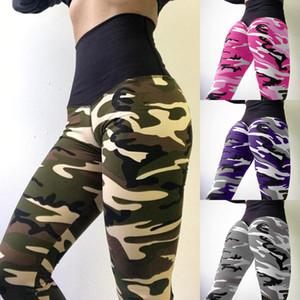 Novas Mulheres Calças de Yoga Camuflagem Impressão Apertado Esporte leggings Fino de Alta cintura Elástica Leggings De Fitness Para A Mulher
