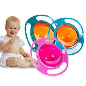 NOVO 360 Círculo Rotating Kid-Proof não derramamento de alimentação da criança bacia Gyro com tampa evitar alimentos que derrama Crianças Criação bacia de alimentação Supplies