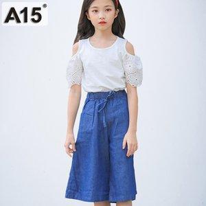 A15 Conjuntos de ropa de chándal para niños Conjuntos y conjuntos para niñas Conjunto de ropa para niñas pequeñas Verano 2019 Talla 7 8 a 10 12 14 9 años