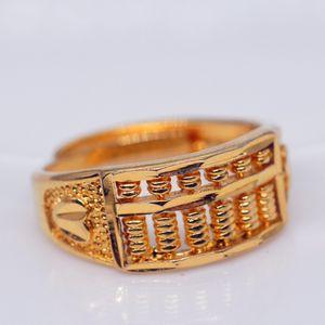 Großhandel Gold füllte Ringe für Frauen Vintage Wedding Schmuck Geschenke Goldfarben Abacus Perlen Ringe für Mädchen
