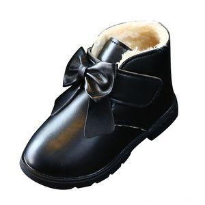 SAGACE Princesse bowknot cuir Snow Kids Enfants d'hiver chaud enfants fille Chaussures plates Mode hiver bébé Chaussures en cuir