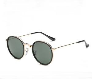 3448 Mens Classic Small Round Occhiali da sole steampunk Donna Small Vintage Retro Mirror John Lennon Occhiali da sole Oculos de sol Masculino