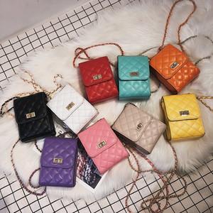Kadınlar 2020 için Mini Ekose Omuz Çantası Kadın Zinciri Küçük Çantalar Casual elmas Kafes Sqaure Çanta Yüksek Kalite Messager Çanta