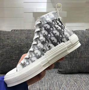 2020 nuevo diseñador de lujo Caminar bajo la zapatilla de deporte de la mujer en oblicuo bordado zapatos de lona casuales e-up de alta zapatilla de deporte de las mujeres