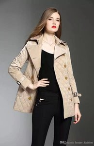 New style!women fashion england middle long cotton padded coat brand designer double breasted jacket for women size S-XXL #886F240
