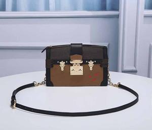 패션 가방 디자이너 명품 핸드백 지갑 L 꽃 패턴 TRUNK 클러치 M43596 체인 숄더 스트랩 크로스 바디 여성 디자이너 가방
