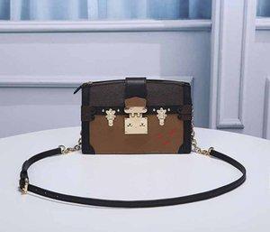 클러치 백 트렁크 럭셔리 패션 지갑 디자이너 체인 핸드백 패턴 L M43596 스트랩 어깨 꽃 크로스 바디 여성 디자이너 가방 Kqujc