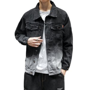 Autumn Denim Jacket Male Korean Version Of The Trend Of Youth Casual Gradient Jacket High School Students Handsome Jacket