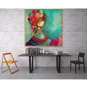 wholesale 5D Woman Muppet Woollen Skirt Little Girl Blue Full Diamond Painting cross stitch kits art Cartoon 3D paint by diamond