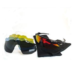 NUOVA bicicletta di stile esecuzione occhiali da sole Occhiali polarizzati vetri di riciclaggio di sport esterno della Sun occhiali bicicleta Occhiali ciclismo 3 pz Lens 9401