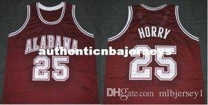 Cheap personalizzato # 25 Robert Horry Alabama Crimson Tide College Basketball Jersey Ricamo cucito su misura qualsiasi numero e nome