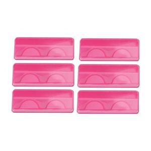 25 / 50PCS 핑크 속눈썹 케이스 휴대용 재사용 빈 가짜 속눈썹 스토리지 박스 플라스틱 투명 포장 상자