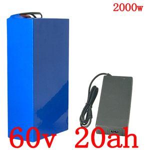 60V-Lithium-Batterie 20AH 60V 1500W 2000W 2500W Elektro-Fahrrad-Batterie 60V Elektro-Scooter-Ladegerät mit BMS + 67.2V 5A 50A