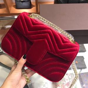 Designer-Marmont Samt sackt Handtaschenfrauen berühmte Marken Umhängetasche Sylvie Designer Luxus-Handtaschen Geldbörsen Kette Mode Umhängetasche